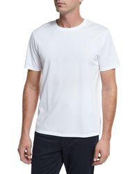 Vince - Mercerized Cotton Crewneck T-shirt - Lyst