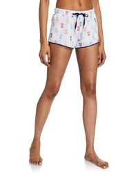 Psycho Bunny Short Elastic Pyjama Shorts - Blue