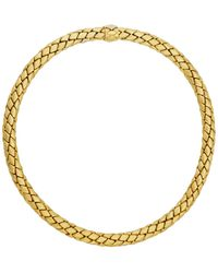 Chimento - 18k Gold Woven Necklace - Lyst