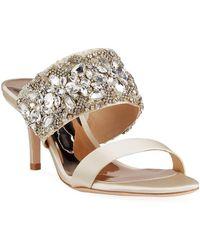 Badgley Mischka - Linda Crystal And Jeweled Sandals - Lyst