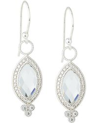 Jude Frances - 18k Provence Pave Diamond & Topaz Marquise Dangle & Drop Earrings - Lyst