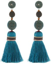 Nakamol - Mixed Bead & Tassel Drop Earrings - Lyst
