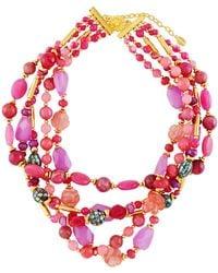 Jose & Maria Barrera   Agate & Abalone Multi-strand Beaded Torsade Necklace   Lyst