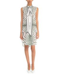 Givenchy Floral Sleeveless Tie-neck Dress - Multicolor