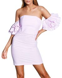 StyleKeepers - The Malibu Ruffle-tiered Off-the-shoulder Dress - Lyst