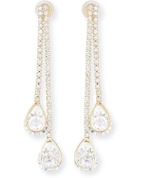 Fragments - Double Bar & Teardrop Earrings - Lyst