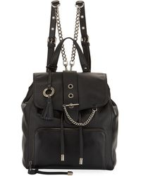 Badgley Mischka - Beulah Leather Drawstring Backpack - Lyst
