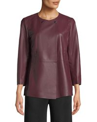 Lafayette 148 New York | Dayle Open-front Leather Jacket | Lyst
