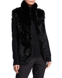 Adrienne Landau Rabbit Fur Vest - Black