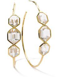 Ippolita - 18k Modern Rock Candy® Clear Quartz Hoop Earrings - Lyst