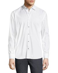 Maceoo - Shaped-fit Luxor Snowflake Solid Sport Shirt - Lyst