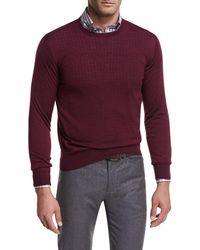 Peter Millar - Collection Merino-silk Crewneck Sweater - Lyst