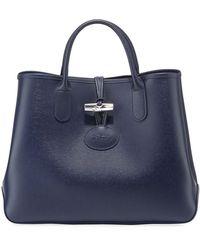 458e3428deab Longchamp - Roseau Leather Tote Bag - Lyst