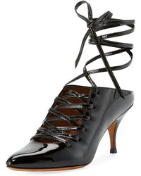 Givenchy - Patent Lace-up 80mm Pumps - Lyst