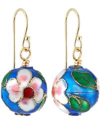 A.V. Max - Cloisonne Bead Earrings Blue - Lyst