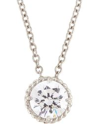 Fantasia by Deserio - White Cz Crystal Pendant Necklace - Lyst