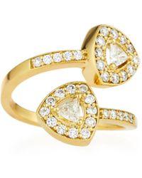 Penny Preville - 18k Trillion-cut Diamond Bypass Ring Size 6 - Lyst