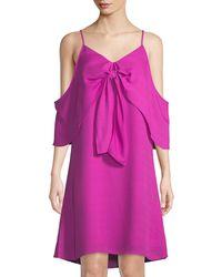 Catherine Malandrino - Cold-shoulder Knot-front A-line Dress - Lyst