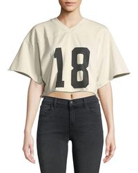 Kendall + Kylie - Cropped V-neck Sporty Crop Tee - Lyst