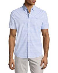 Original Penguin - Horizontal-striped Short-sleeve Sport Shirt - Lyst