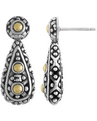 John Hardy - Jaisalmer Two-tone Teardrop Earrings - Lyst