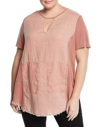 XCVI - Caris Distressed Short-sleeve Washed Top - Lyst