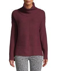 Sweet Romeo - Wide Rib Turtleneck Sweater - Lyst