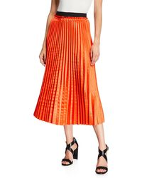 Dex - Pleated Midi Skirt - Lyst