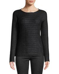 Leon Max - Textured Crew-neck Pullover Sweater - Lyst