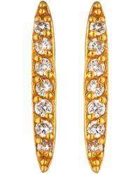Gurhan - Small Whisper 22k Diamond Pave Stick Earrings - Lyst