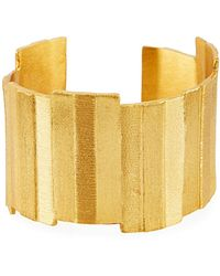 Stephanie Kantis Gold-plated Plank Cuff Bracelet - Metallic