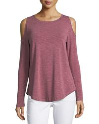 Metric Knits - Jersey Cold-shoulder Tee - Lyst