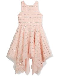 Zoe - Tulle Sequin Stripe Dress - Lyst