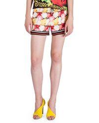 Mary Katrantzou - Floral-print Drawstring-waist Shorts - Lyst