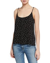 Knot Sisters Moon Printed Scoop-neck Cami - Black