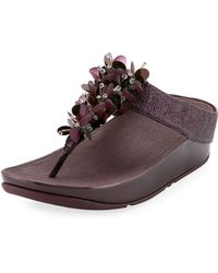 Fitflop - Boogaloo Metallic Floral Sandal - Lyst