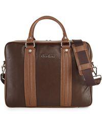 Robert Graham Roman Leather Briefcase - Brown