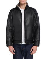 Calvin Klein Men's Faux Fur Jacket - Black