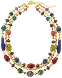 Jose & Maria Barrera - 3-strand Cloisonne Agate & Chain Necklace - Lyst