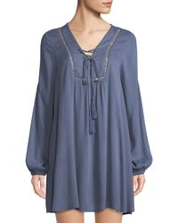 Lost + Wander - Julie Lace-up Peasant Dress - Lyst