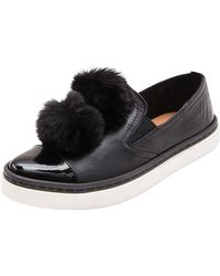 Andre Assous - Dna Gored Slip-on Sneaker W/ Faux-fur Pompoms - Lyst