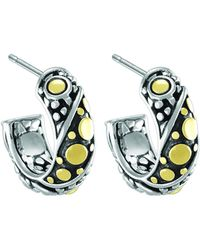 John Hardy - Dot Jaisalmer Small Hoop Earrings - Lyst