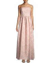 Shoshanna - Lulu Strapless Floral Jacquard Gown - Lyst