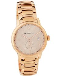 Burberry - 40mm Classic Round Bracelet Watch W/ Check Dial - Lyst
