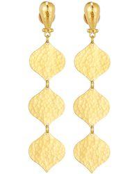Gurhan - 24k Triple-drop Clove Flake Earrings - Lyst