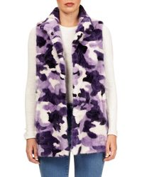 Gorski - Snap-front Sectioned Mink Fur Vest - Lyst