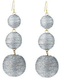 Kenneth Jay Lane | Threaded Triple-drop Ball Earrings | Lyst