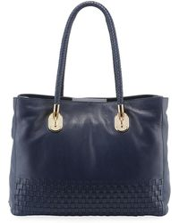7e457723116 Cole Haan Harlow Leather Tote in Black - Lyst