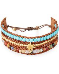 Chan Luu - Three-strand Pull-tie Bracelet In Turquoise - Lyst