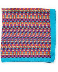 Bugatchi - Multicolor Polka-dot Silk Pocket Square - Lyst
